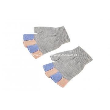 Красочные школьные перчатки без пальцев для мальчиков и девочек