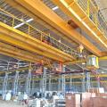 50t european style double girder bridge crane