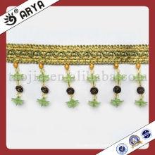 Beautiful Green Polyster Beaded Trims Curtain Beads Fringe Perle Lacing