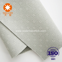 Polyester nonwoven felts with plastic dots