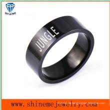 Shineme Schmucksache-Art- und Weiseschwarzes überzogener Edelstahl-Ring (SSR2779)