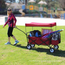Easygowagon Folding Collapsible Utility Wagon Fits in Trunk of Standard Car Red