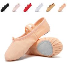 Breathable Soft Durable Leather Sole Flesh Color Shoes Ballet