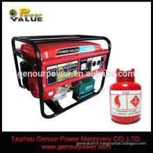 small machine tools 1.5kva gas generator set