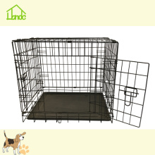 Svart Folding Durable Pet Dog Cage