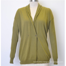 New Design Spring Knit Women Cardigan with Button