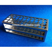 Laboratory stainless steel test tube rack