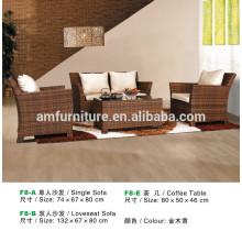 New design modern rattan sofa set F8