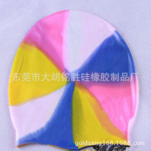 Professional Waterproof Customized Logo Print Silicone Adult Swimming Cap