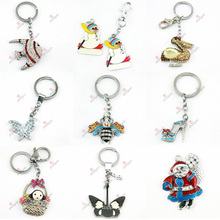 2015 mais novo Animal Crystal Keychain Atacado (KR-09-16)