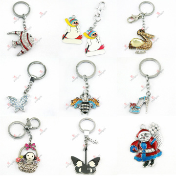 2015 Newest Animal Crystal Keychain Wholesale (KR-09-16)