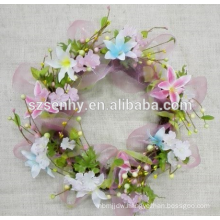 Decorative wreath hangers for doors,flower wooden door hanger