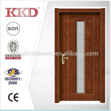 Residence Room Simple Deign Steel Wood Door KJ-709 With Glass From China Top Brand KKD