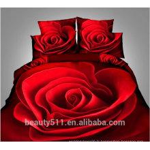 Nouveau motif de fleurs quatre ensembles 100% Coton ou Coton Blend Couette de couette / Literie en gros / Ensemble d'oreiller Ensemble de literie BS20