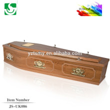 practical MDF solid wood coffin JS-UK086