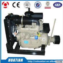Motor diesel chinês K4100P com a embreagem da polia da correia