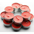 Wedding dresses color scented tealight candles