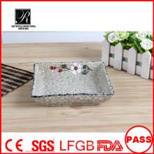 Heiße Verkauf Hotel & Restaurant Spülmaschine sicher schöne quadratische Keramik Abendessen Platten für Hochzeiten