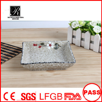 Hot sale hotel&restaurant dishwasher safe beautiful square ceramic dinner plates for weddings