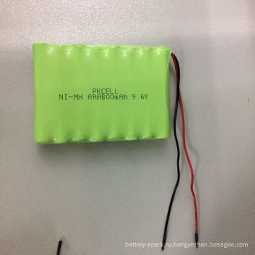 9.6 V ААА 800 мАч NiMH аккумуляторная батарея с кабелем