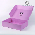 Double side printing pink cosmetic mailer box