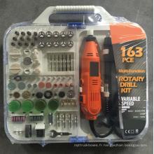 Ensemble d'accessoires pour mini-broyeur portatif Hobby 163W 135W avec kit de forage rotatif électrique portatif Flex Shaft