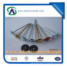 Cabeça de guarda-chuva prego de telhado galvanizado com arruela (ADS-RN-4)