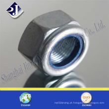 Porca de trava de nylon hexagonal fabricada na China