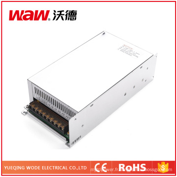 Alimentation à découpage 600W 24V 25A avec protection contre les courts-circuits