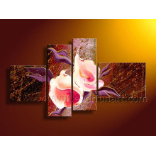 Handgemachte Segeltuch-Kunst-Blumen-Malereien für Hauptdekor (FL4-141)