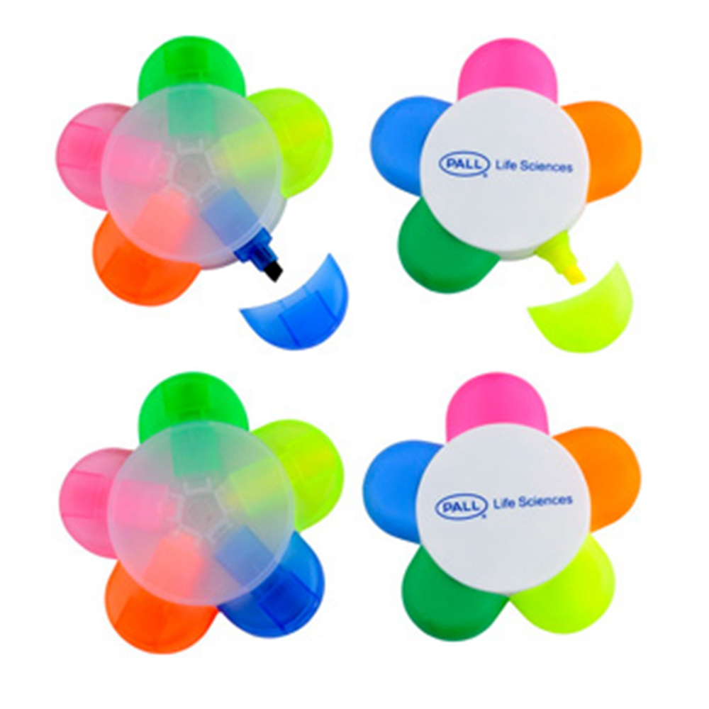 Promotional Colorful Flower Shaped Highlighter