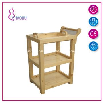 Fashion Medical Wood Beauty Salon Trolley