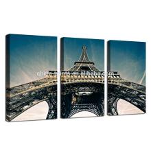 Impresión de la foto del paisaje de París / ilustraciones de la lona de la lona de la torre de Effie / 3