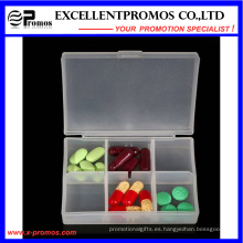 Alta calidad 6units logotipo personalizado Pillbox (EP-030)