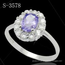 Moda jóias 925 anel de prata esterlina