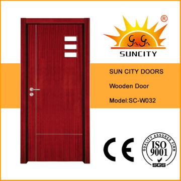 Завод низкая цена стеклянные МДФ деревянные двери (СК-W032)