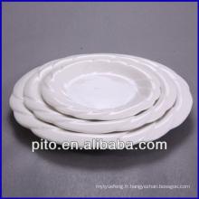 """Plaque en porcelaine blanche en gros de 8 """"10"""" 12 """", plaque en céramique"""