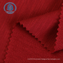 Polyester Cotton Slub French Terry Knitted Fish Scale Fabric