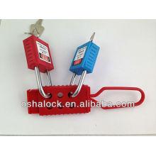 Verrouillage à biellette de verrouillage diélectrique et plastique BD-K41 avec cadenas de sécurité, pour l'étiquetage de verrouillage en utilisant