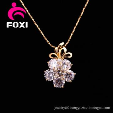 Flower Zircon Stone Silver Pendants Jewelry for Girls