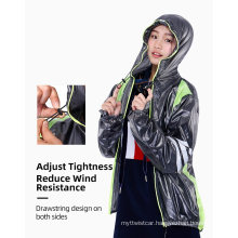 Hooded Breathable and Waterproof Cycling Clothes, Cycling Rainwear, Sportswear, Sports Raincoat