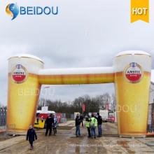Publicidad gigante Globo de aire Cerveza Arco inflable Replica Models