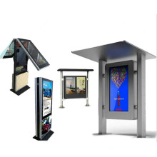 """55 """"Zoll-Kiosk-LED Vorhang-Anzeige im Freien"""