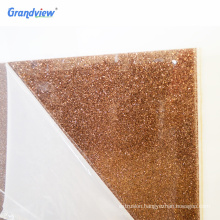 3mm thickness two sides Glitter fabric Acrylic Sheet for wall decoration
