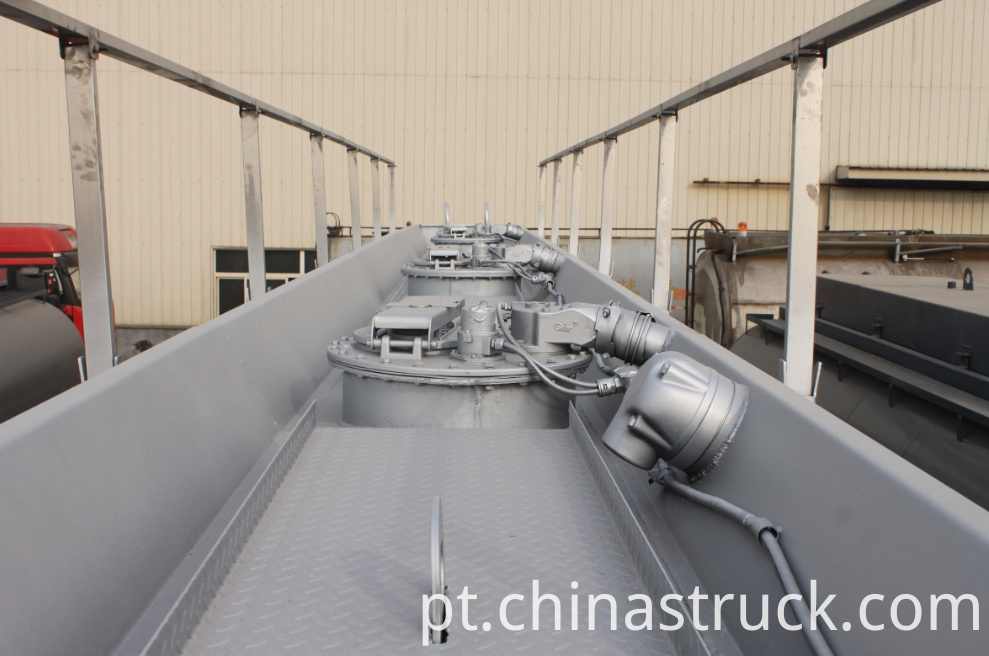 3 axle Stainless steel Ethanol tank semi-trailer