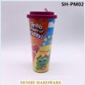 680ml Plastic Water Mug with Plastic Straw (SH-PM02)