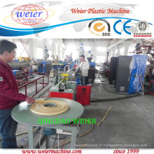 Ligne de production de machine d'extrusion de bande de bordure de PVC à extrudeuse à une seule vis