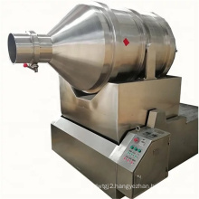 Rotating drum flour granule tea powder mixing liquid wet dry moringa leaf powder particle powder flour granule blending