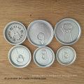 Tapas de aluminio para bebidas 50mm Tamaño 200 Tapa fácil de abrir