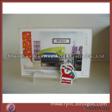 Pure High-quality Acrylic Calendar Holder Rack with Carton Picture
